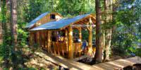 The Cabana Cafe in the forest on an island in British Columbia
