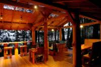 Our Cabana Cafe is lighted in the evenings by energy saving, solar powered LED lighting