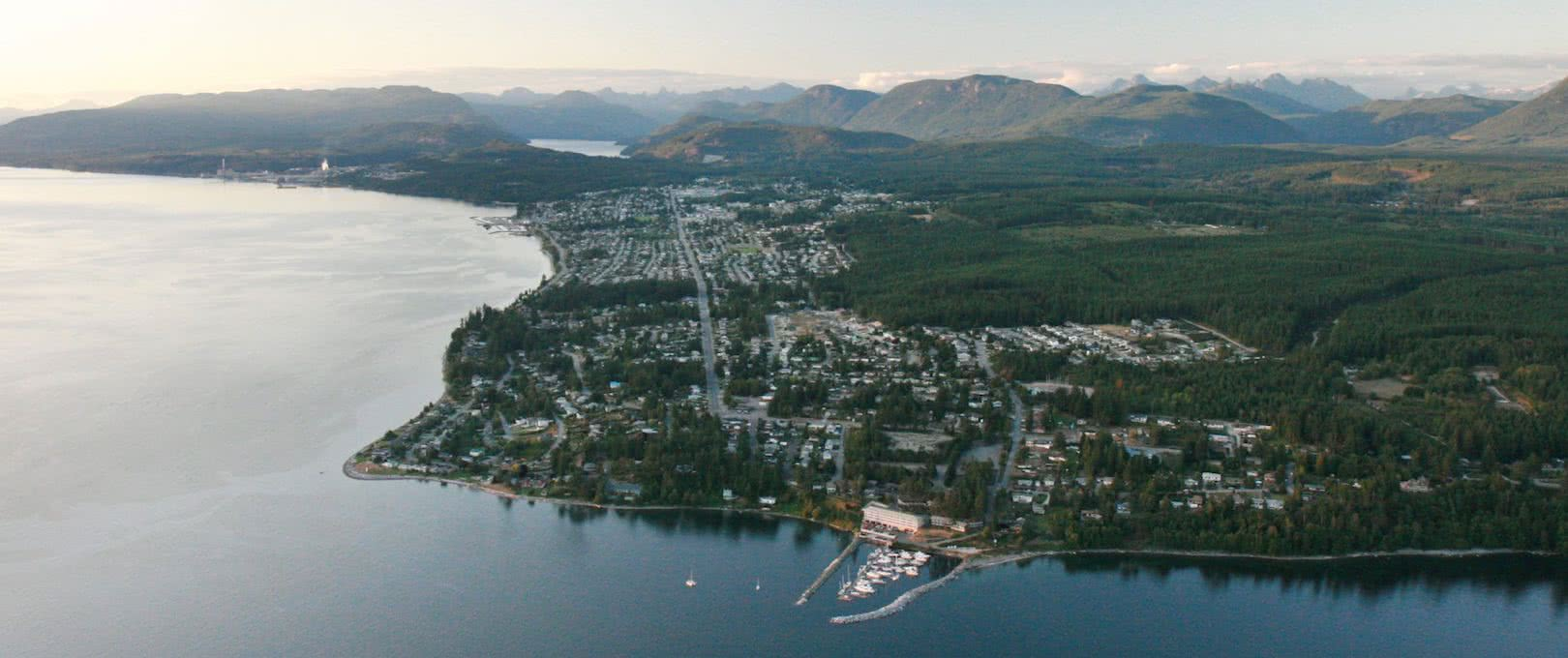 Powell River, British Columbia, from above