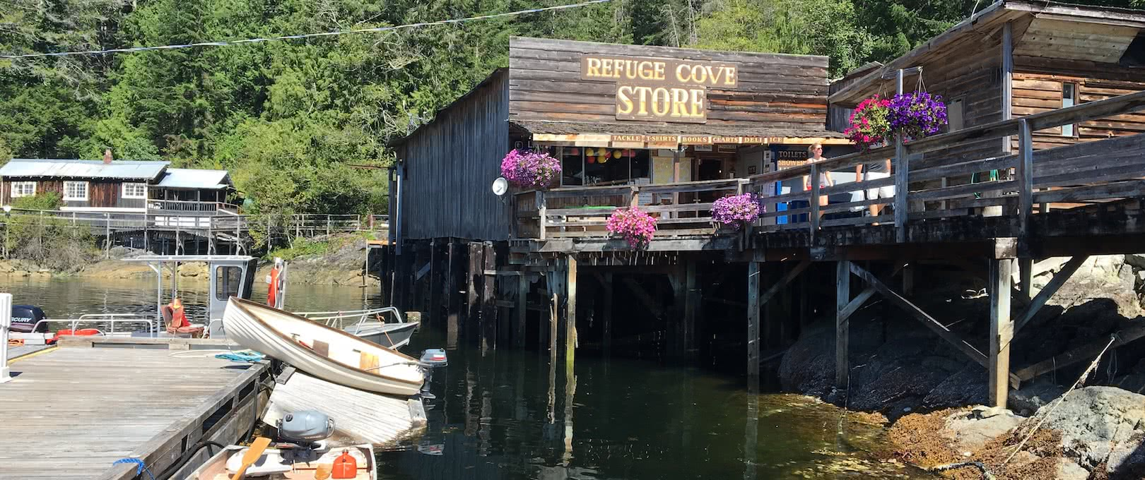 Refuge Cove Store in Desolation Sound, BC