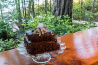 Chocolate Cake on the Cabana Cafe Bar