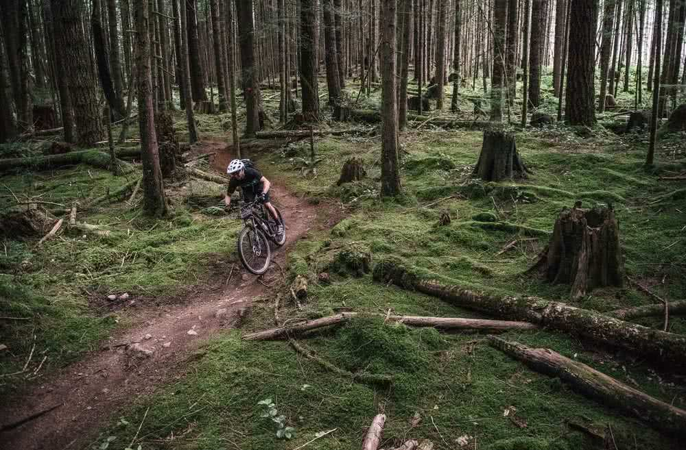 A Local mountain biker in Powell River, BC