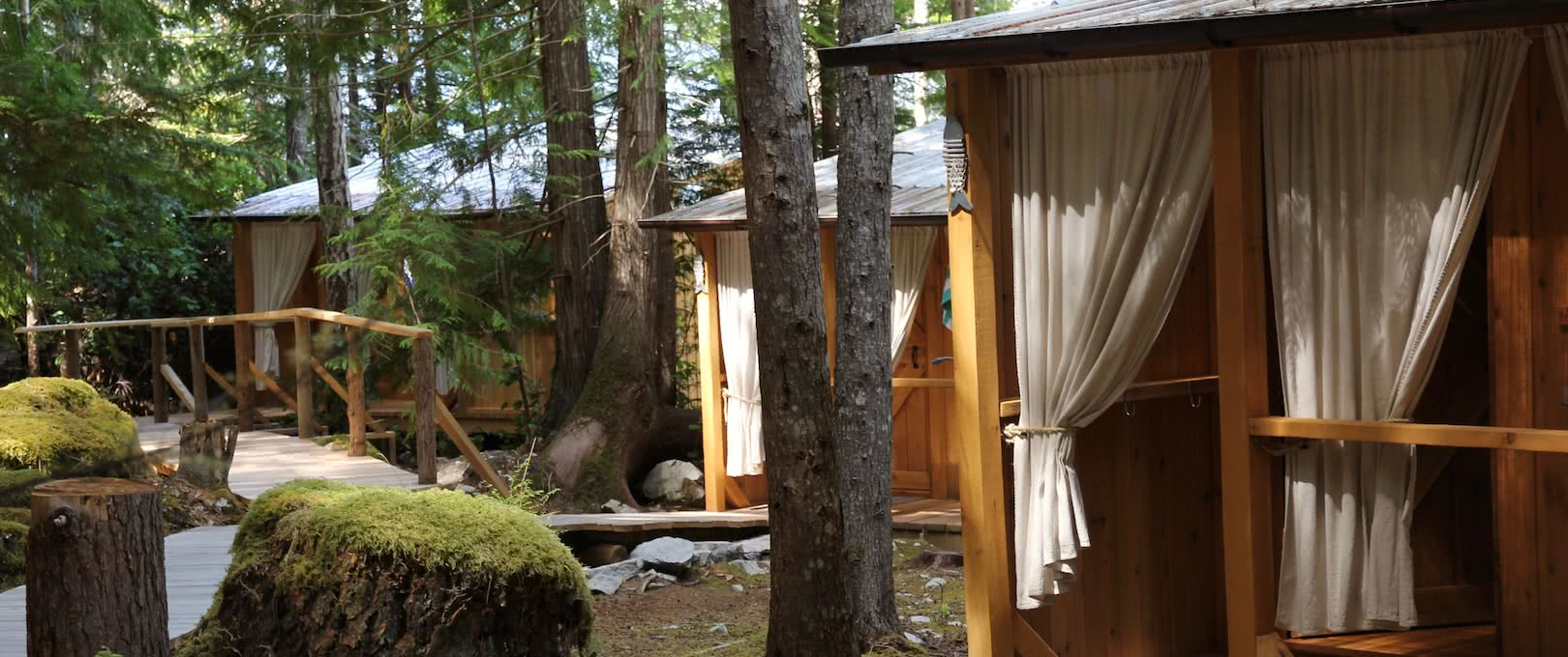The cabanas at the eco resort are comfortable, handcrafted, and warm