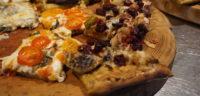 Freshly baked artisanal pizza