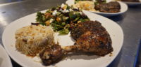 Za'atar Chicken during a Mediterranean themed dinner at the cafe