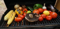 Fresh vegetables on the BBQ
