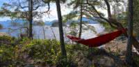 A hammock on the point is the perfect place to chill & immerse in Desolation Sound