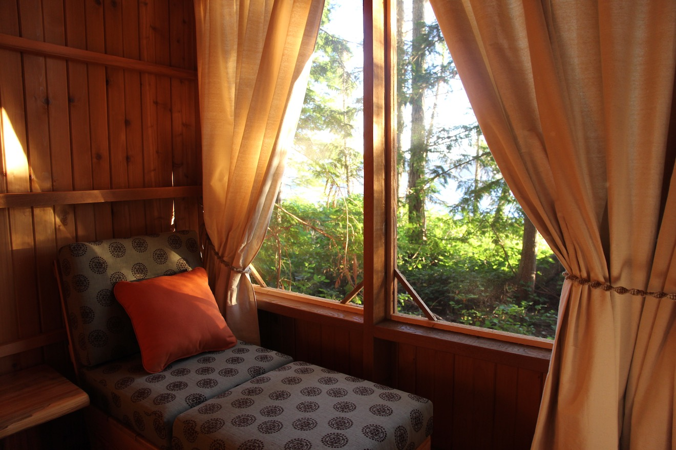 An interior shot of one of our comfortable accommodations unique among bc eco resorts
