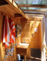 Our on demand hot water showers in every cabana are propane powered