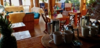 Coffee and Tea about to be served to guests in their cabanas in the morning at Cabana Desolation