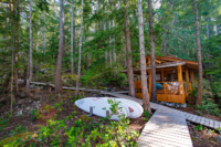 The Cabana Cafe is nestled amongst the trees of Kinghorn Island in Desolation Sound